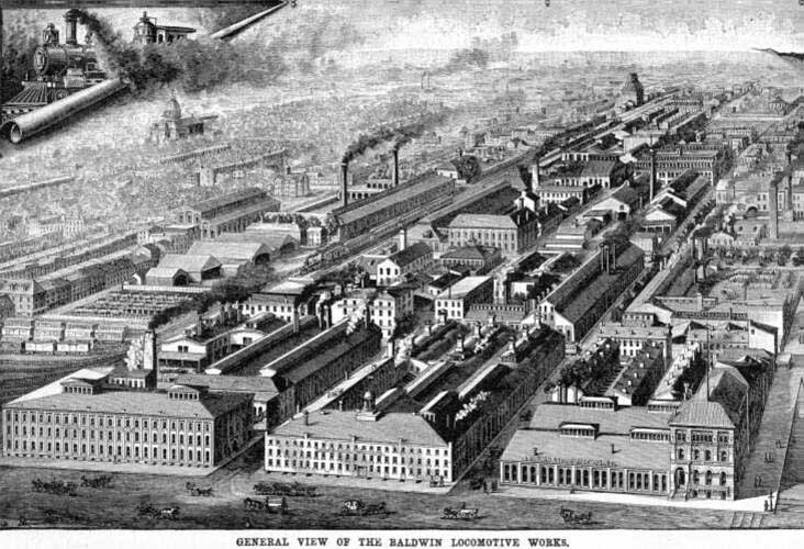 Baldwin Locomotive Works Factory Engraving